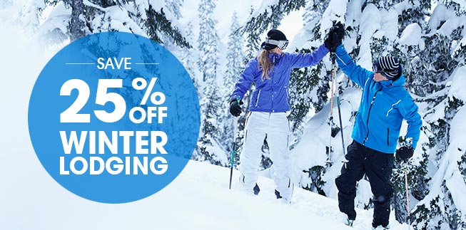 25% Off Winter Stays!